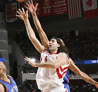 Luis Scola hits 10 of his 16 shots from the floor to match his season high with 23 points.  (Getty Images)