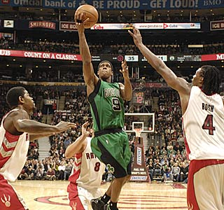 Rajon Rondo gets 22 points, 13 assists and 10 boards for his first triple-double of the season.  (Getty Images)