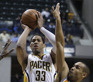Danny Granger helps the Pacers overcome a 24-point hole by scoring a game-high 33 points.  (AP)