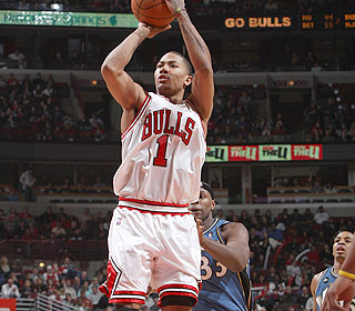 Derrick Rose finishes with a career-high 37 points. How long before he eclipses that mark? (Getty Images)