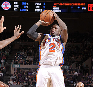 Nate Robinson comes off the bench to hit 5 of 9 3-pointers and score 27 points.  (Getty Images)