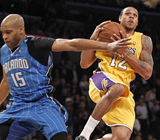 Shannon Brown catches Vince Carter and the Magic by surprise with a career-high 22 points.  (AP)