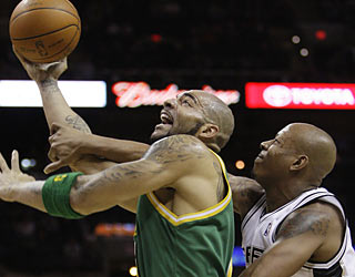 The Spurs used to own Carlos Boozer and the Jazz. Now it's Utah in firm control of San Antonio. (AP)