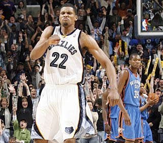 Rudy Gay reacts after hitting the winner with 1.3 seconds left to cap his 25-point game.  (Getty Images)
