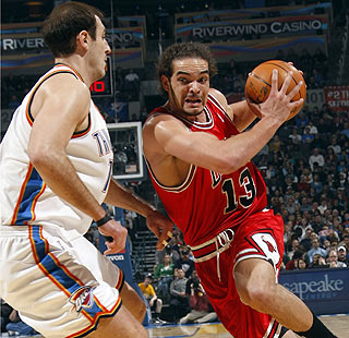 Joakim Noah (13 points, 11 boards) and the Bulls move to .500 for the first time since Nov. 21.  (Getty Images)