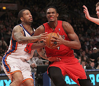 Chris Bosh is too much for the Knicks to handle, finishing with 27 points and 15 boards.  (Getty Images)