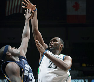 Al Jefferson fuels the Wolves' fourth straight win by scoring 16 of his 23 in the fourth.  (Getty Images)