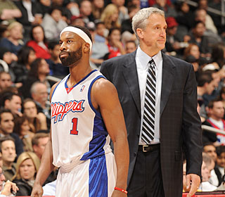 In his Clippers debut, Kim Hughes has a rough start as Baron Davis and L.A. fall.  (Getty Images)