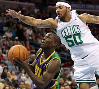 The Celtics just can't get a grasp on Darren Collison, who scores 13 points in the fourth.  (US Presswire)