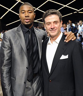 Don't expect Rick Pitino to join former Louisville star Terrence Williams in Jersey anytime soon. (Getty Images)