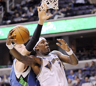 Andray Blatche takes advantage of his promotion to the starting lineup with a career-high 33 points. (AP)