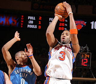 'I didn't expect to play the way I did,' Tracy McGrady says after scoring 26 in his N.Y. debut.  (Getty Images)