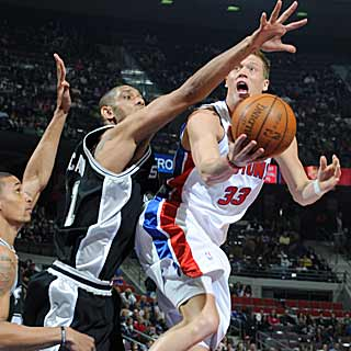 The Pistons send the Spurs back to San Antonio with a .500 record on their road trip. (Getty Images)