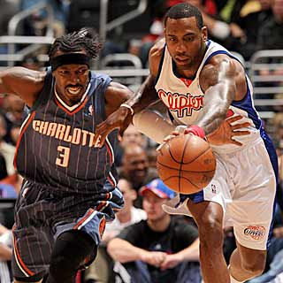 Despite Gerald Wallace's strong outing, Rasual Butler and the Clippers edge the Bobcats. (Getty Images)