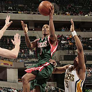 Brandon Jennings' 18 points and seven assists keep the Bucks perfect against the Pacers. (Getty Images)