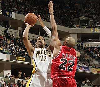 Danny Granger's game-high 30 points and eight boards lift Indiana over Chicago. (Getty Images)