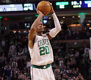 Ray Allen's 3-pointer with 17.1 seconds left caps Boston's game-winning rally. (Getty Images)