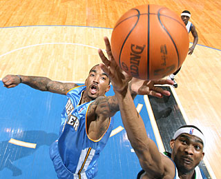 J.R. Smith is one of the role contributors for Denver, with 15 points and four rebounds. (Getty Images)