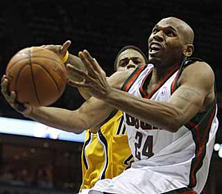 Jerry Stackhouse's 20 points ensure the Bucks don't have a letdown against the Pacers. (AP)