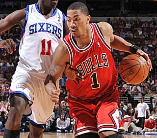 After missing four games, Derrick Rose returns to lead Chicago in scoring with 23 points. (Getty Images)