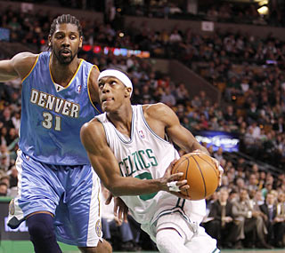 Rajon Rondo (11 points, 11 rebounds, 15 assists) logs his second triple-double of the season. (US Presswire)