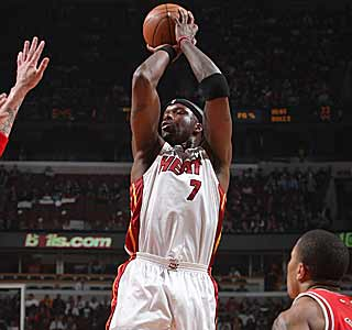 Jermaine O'Neal's game-high 24 points propels the Heat into sixth place in the East.  (Getty Images)