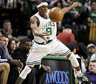 Rajon Rondo's 18 assists puts him into second place on the Celtics single-season assists list. (AP)