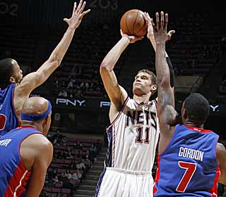 Thanks to Brook Lopez's career-high 37 points, the Nets finally pick up their ninth win. (Getty Images)