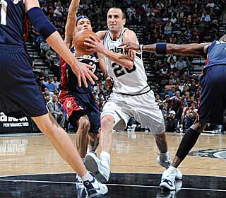Manu Ginobili takes over down the stretch, giving the Spurs a validating win. (Getty Images)