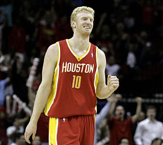 Chase Budinger drills the go-ahead jumper with 28 seconds left to lift the Rockets.  (US Presswire)