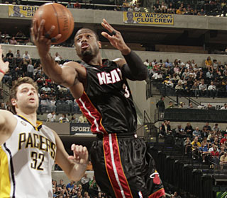 Dwyane Wade finishes with 43 points, nine rebounds and six assists to rally the Heat.  (Getty Images)