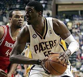 Roy Hibbert dominates for the Pacers, coming just three assists short of a triple-double. (AP)