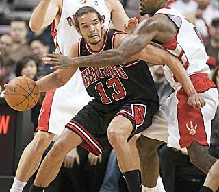 In the Bulls' most important game of the season, Joakim Noah goes for 18 points and 19 boards. (AP)