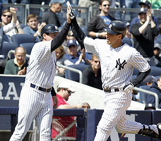 Mark Teixeira is still hitting just .114, but Yankees fans can take heart with his first homer. (US Presswire)