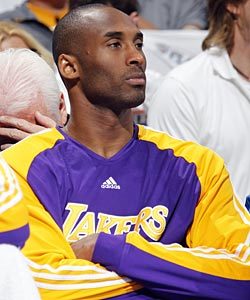Kobe Bryant tied his own hands in Game 4, going 15 minutes without a single shot. (Getty Images)