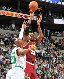 LeBron James' dominating outing puts the pressure back on Boston. (Getty Images)