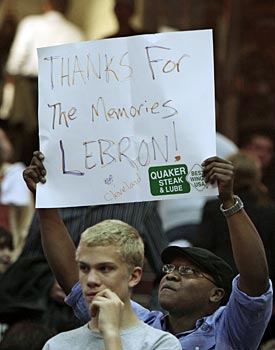 Cavaliers fans can only hope LeBron James' last game in Cleveland wasn't a listless loss. (AP)