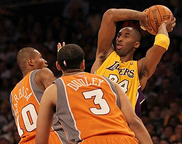 Kobe Bryant and the Lakers keep finding ways around whatever defense the Suns can throw at them. (Getty Images)