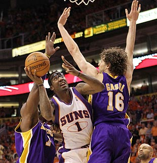 Through his aggressiveness, Stoudemire earns 18 trips to the charity stripe, sparks his team and perhaps enhances his stature. (Getty Images)