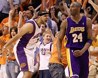 Jared Dudley's three treys off the bench ignite the Suns and frustrate Kobe Bryant and the Lakers. (Getty Images)