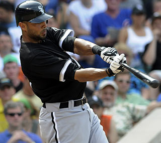 Alex Rios goes 4-for-4 with a home run and two RBI to pace the White Sox offense.  (AP)
