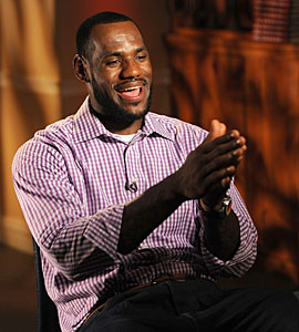 LeBron James might be happy with his decision but he took the easy way out. (Getty Images)