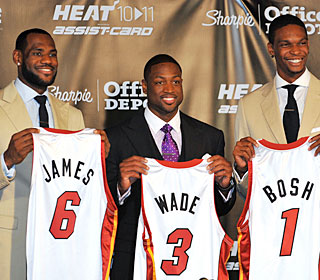 Did LeBron, Wade and Bosh have some illegal contact before joining forces? (Getty Images)