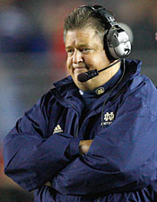 Time is running out for Charlie Weis. Will taking over as the play caller help him stay at Notre Dame? (Getty Images)