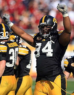 Iowa's future is riding on Adrian Clayborn's future. (Getty Images)