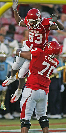 At the time of his injury, Patrick Edwards had 46 catches in eight games. (University of Houston)