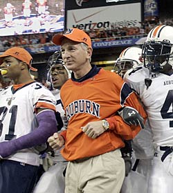 Tommy Tuberville's Tigers were left out of the national championship picture in 2004 despite a 13-0 record. (Getty Images)