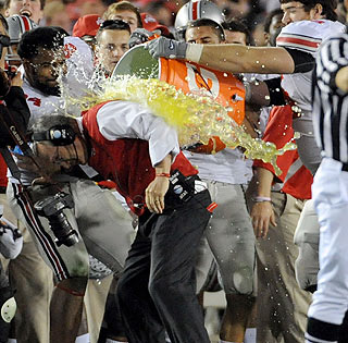 Monkey off his back: After losing three straight BCS bowls, Jim Tressel earns a big victory.