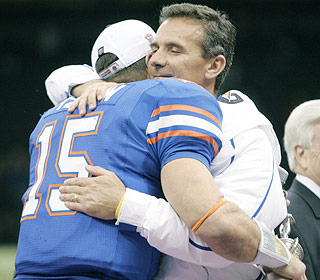 Player and coach. Tim Tebow and Urban Meyer can reflect on four years of greatness at Florida.