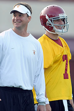 Kiffin will have sophomore quarterback Matt Barkley to lean on. (US Presswire)